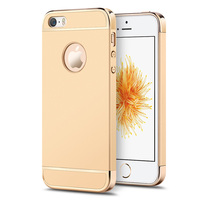 Mofi For IPhone SE Cover Gold Luxury 3 In 1 Ultra Thin For IPhone 5s Case