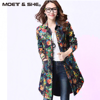 2015 Women S Cotton Linen Blouses Women Long Shirt Causal Turn Down Collar Plaid Design Jacket