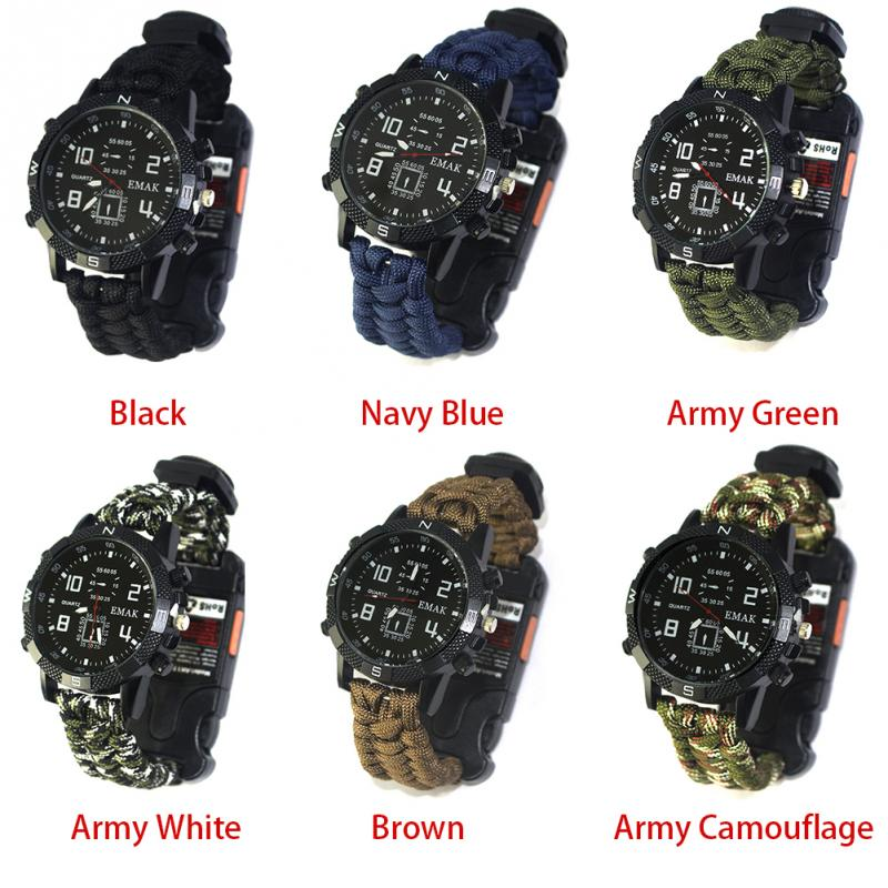 aeProduct.getSubject()  EDC Tactical multi Outside Tenting survival bracelet watch compass Rescue Rope paracord gear Instruments package HTB1H6oGFuGSBuNjSspbxh7iipXa1