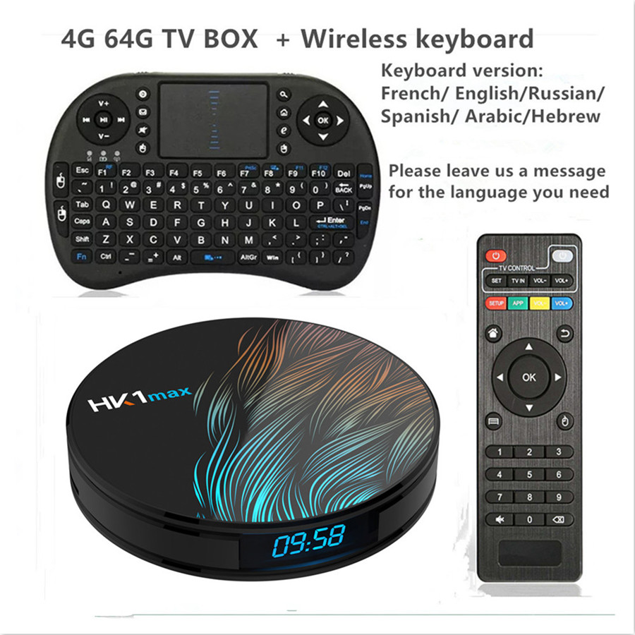 Android 9 0 Smart TV BOX Google Assistant RK3328 4G 64G TV receiver