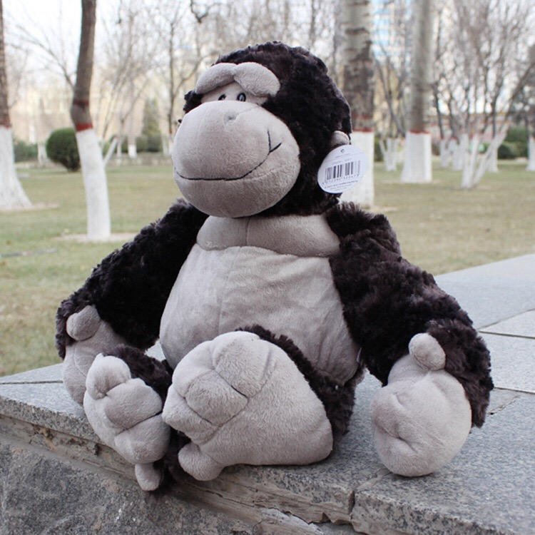 candice guo! Nici plush toy stuffed doll cute fat orangutan gorilla black King Kong valentine's day christmas gift 80cm 1pc black orangutan 75x85cm chimpanzee plush toy black king kong doll gift w4663