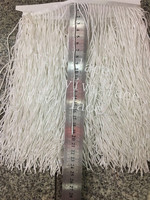 yy129 5yards/bag ribbon ivory color beads tassel fringe 20 cm width for wedding bridal gown dress/party sawing