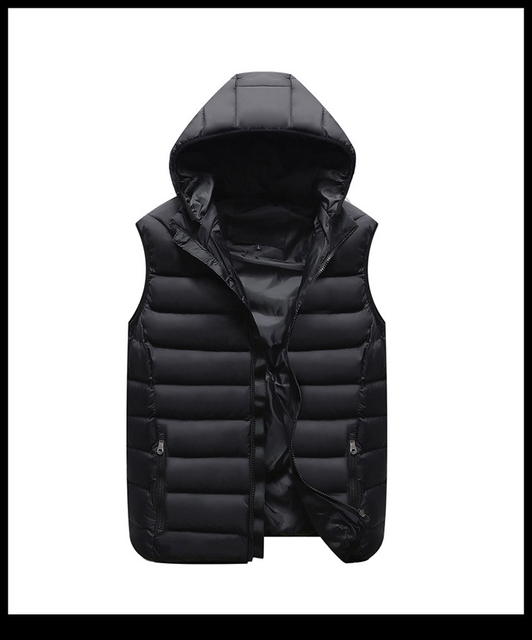 UNCO&BOROR High Quality Winter Outdoor Fishing Hiking Hooded Vest Mens Sleeveless White Duck Down Vest Coat