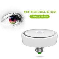 LumiParty Led Bulb PIR Motion Sensor LED Ceiling Lamp E27 85 265V 12W Auto Smart LED