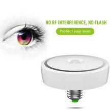 Lumiparty led pir motion sensor lâmpada do teto e27 85-265 v levou lâmpada 12 W Auto Inteligente Iluminação LED Sensor de Corpo De Infravermelho Noite lâmpada
