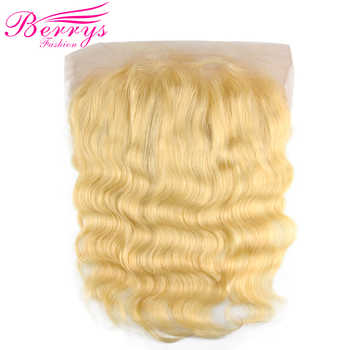 Blonde 13x6 Lace Frontal Brazilian Body Wave Human Hair Lace Front Free Part Bleached Knots Remy Baby Hair Berrys Fashion