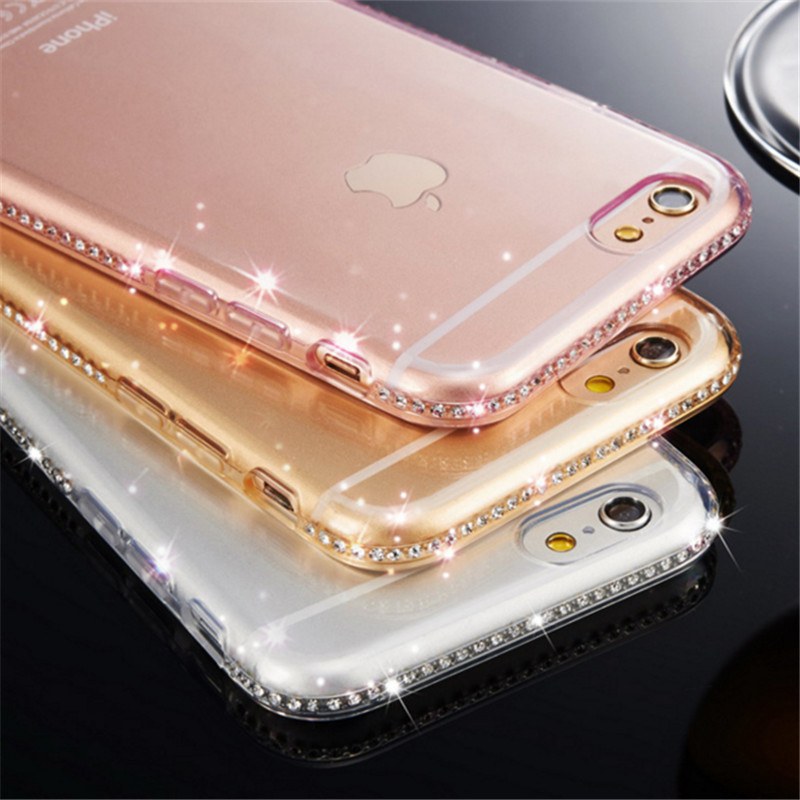Cover Custodia Soft Crystal in Silicone TPU Trasparente per Apple