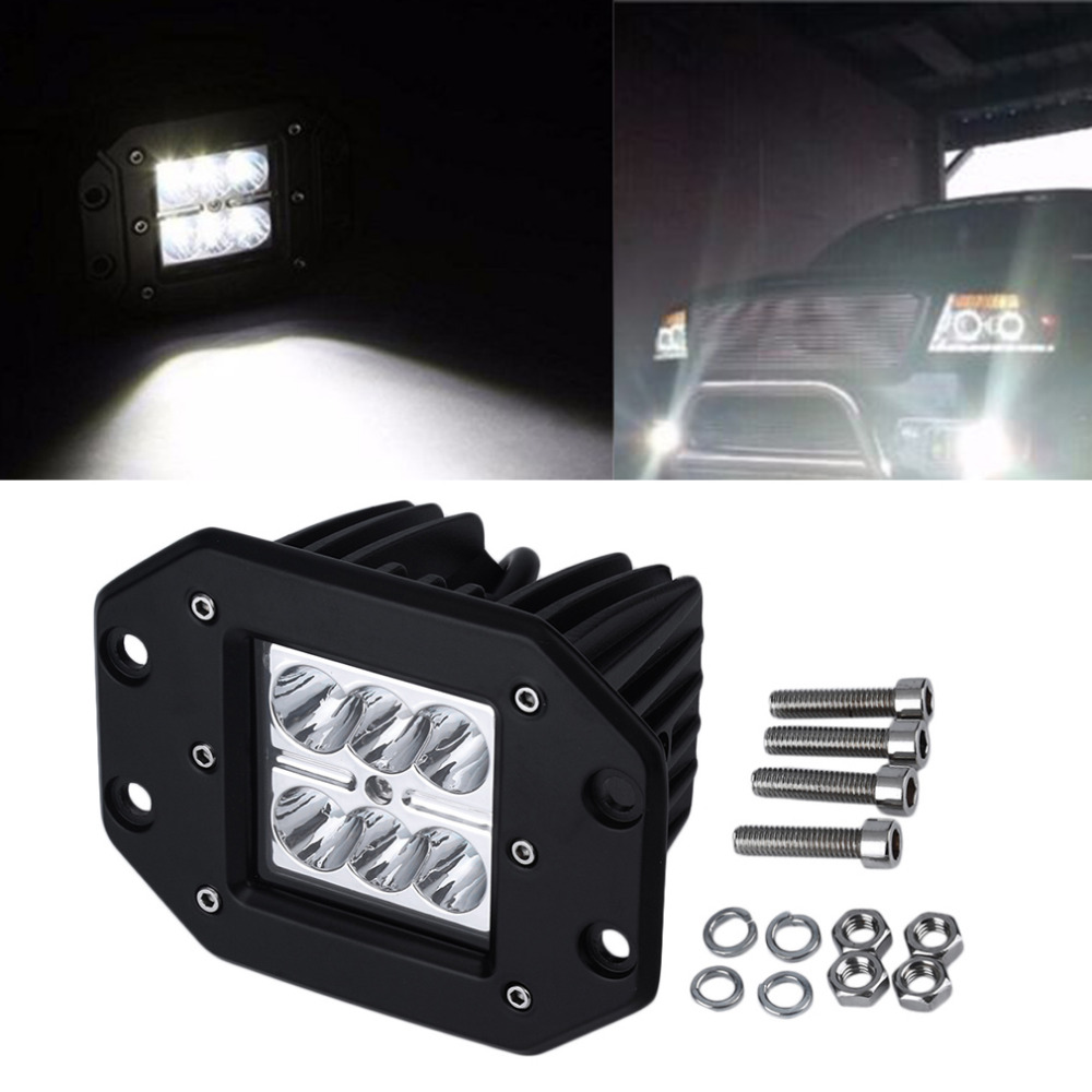Newest 1pc 18W 4 inch  LED Work Light Bar for Indicators Motorcycle Driving Offroad Boat Car Tractor Truck 4x4 SUV ATV Flood 12V 4pcs 48w led work light for indicators motorcycle driving offroad boat car tractor truck 4x4 suv atv flood 12v 24v