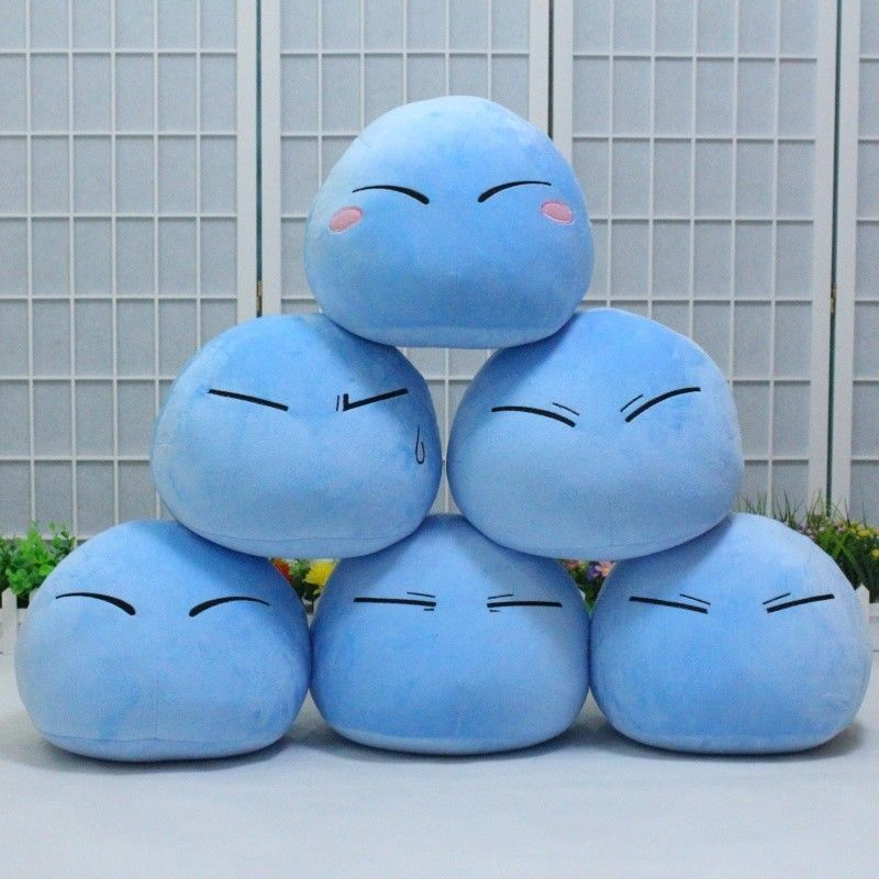 Anime That Time I Got Reincarnated As A Slime Rimuru Tempest Kawaii Cosplay Plush Doll Pillow Stuffed Toy Figure Tensei Shitara