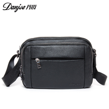 Danjue Genuine Leather Mens Shoulder Messenger Bag Brand New Crossbody Bag Vintage fashion men bags real leather