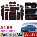 Противоскользящий резиновый коврик для дверей Audi A4 B9 2016 2017 2018 2019 A4 8 Вт RS4 S4 S line RS 4 аксессуары для интерьера автомобильные наклейки
