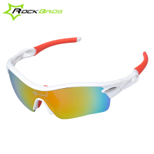 Free shipping !Rockbros White Red Polarized Cycling Glasses ,Sports Glasses Sunglasses Goggles
