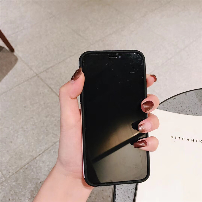 LUDI Vintage Geometric Strip Patterned Phone Case for iPhone 8 Case for iPhone X 6 6S 7 8 Plus Soft TPU Candy Color Fundas Capas06