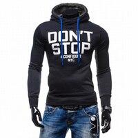 2017 New Autumn Hoodies Men Fashion Brand Pullover Letter Printing Turtleneck Sportswear Sweatshirt Men S Tracksuits