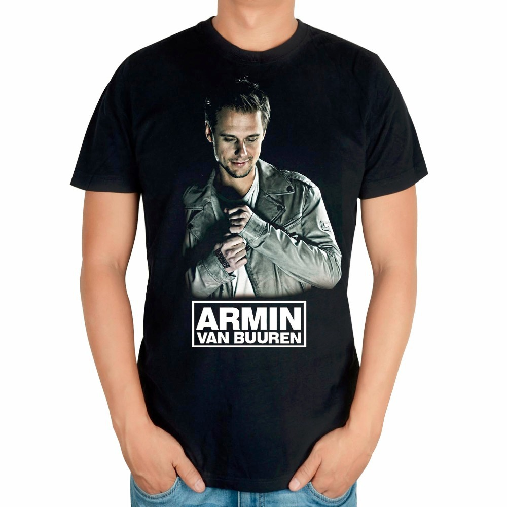 Летняя стильная крутая модная брендовая мужская футболка Armin van Buuren, певица, DJ, черная хлопковая Футболка с 3D принтом mma, музыка, фитнес