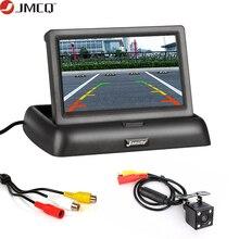 JMCQ 4,3 дюймов автомобильные мониторы TFT LCD монитор заднего вида дисплей система заднего вида парковки+ резервная камера заднего вида Поддержка DVD