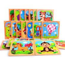 10 шт. различные деревянные головоломки игрушки головоломки модель животного для детские головоломки интеллект детей раннего возраста для детей; из дерева развивающая игрушка