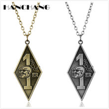 HANCHANG Bandidos Motorcycle Club Long Link Chain Necklace With 1%er Pendants Necklaces for Man's Hip Hop Jewelry(China)