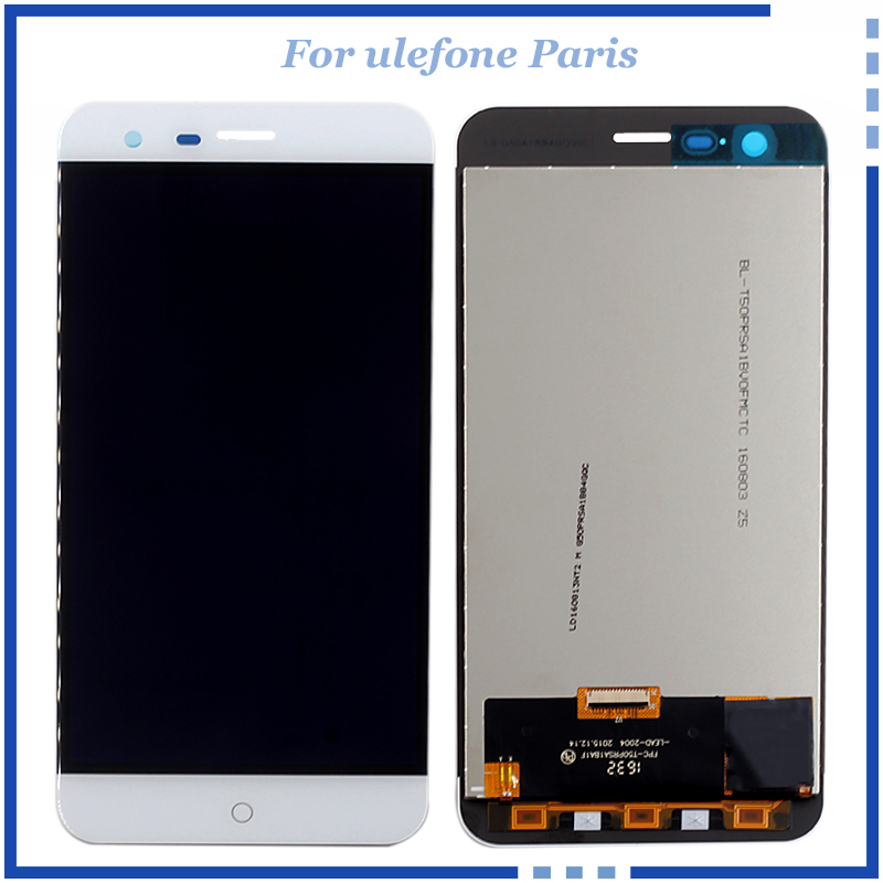 For Pantalla Ulefone Paris LCD Display With Touch Screen Digitizer Panel Assembly Original Quality repair parts with tools original lcd for wiko ridge 4g lcd display with touch screen digitizer pantalla assembly replacement 5 inch black color