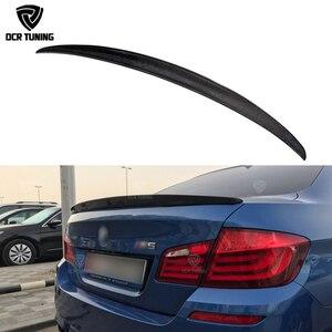 BMW 5 Series F10 2010 2011 2012 2013 2014 2015 520i 528i 530d 520d 535i 530i Carbon Fiber Rear Trunk Spoiler(China)