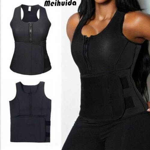 Women Lady Neoprene Corset Waist Trainer Vest Tank Workout Slimming Shapewear Sweat Belly Belt Body Shaper