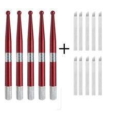 Набор ручных ручек для тату 5 шт и 10 7pin игл набор перманентного