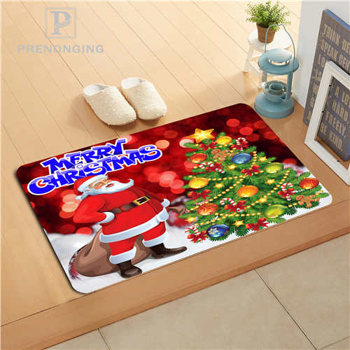 Custom Santa Claus Doormat Print slip-resistant Mats Floor Bedroom Living Room Rugs 40x60cm 50x80cm Free Shipping 171128-35
