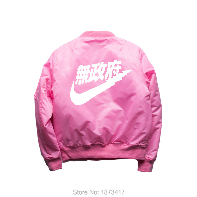 Ma1-Bomber-Jacket-2016-winter-Kanye-West-Yeezus-Tour-Pilot-Anarchy-Outerwear-Men-pink-Kanji-Japanese