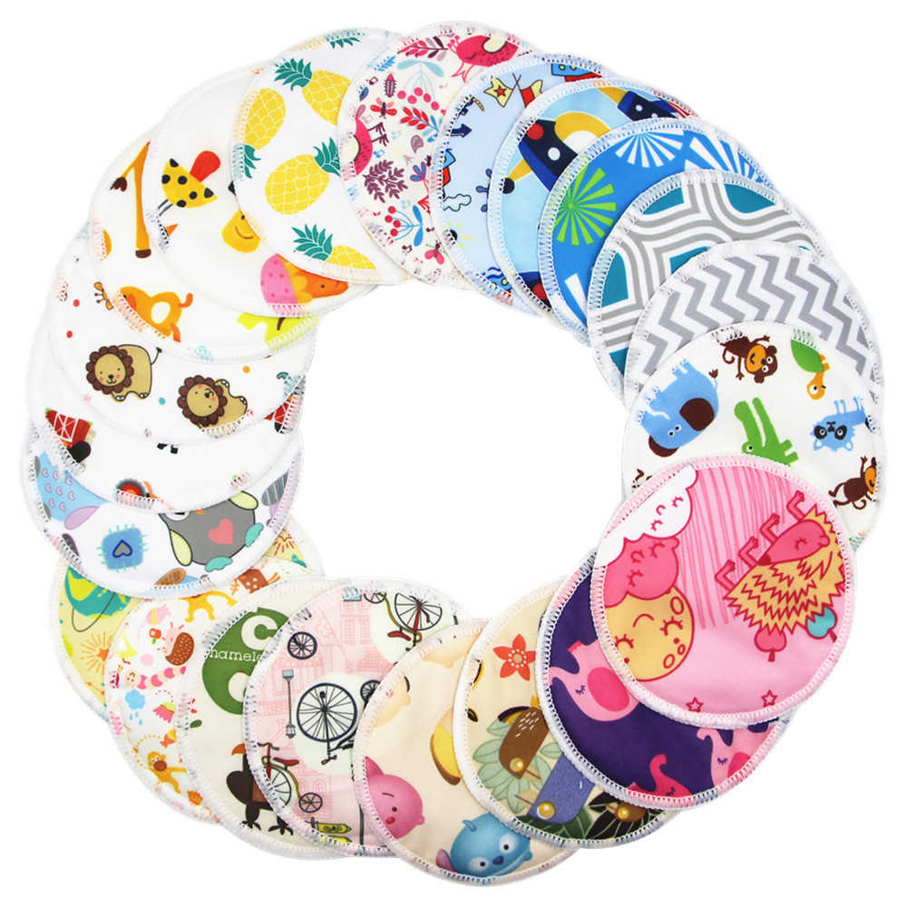 1Pc Reusable Anti-overflow Breast Pad Nursing Pads For Mum Washable Waterproof Pregnant Fabric Material Inner Random color