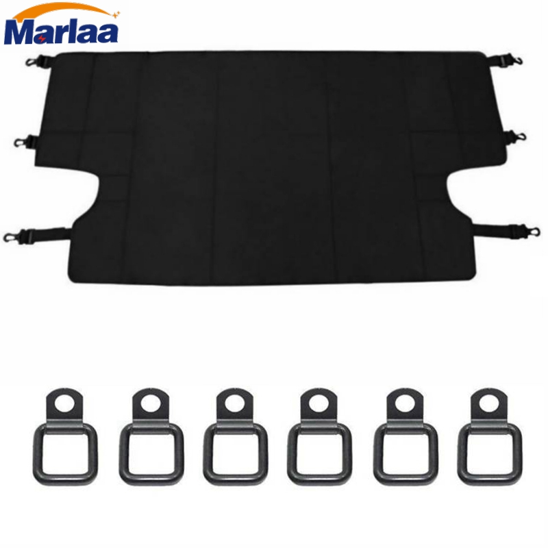 Marlaa For Jeep Wrangler JKU Sports/ Sahara/ Freedom/Rubicon 2007-2017 Car Cargo Cover Organizer with 6 Tie-down D-rings high quality projector lamp bulb with housing 78 6969 6922 6 for projector of x20