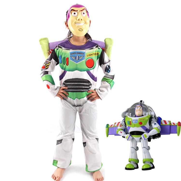 Halloween Costume for Kids Boys/girls Cosplay Costume Clothing Children Bass Light - Years Toy Story Clothes for Boy kids boys pilot costume cosplay halloween set for children fantasia disfraces game uniforms boys military air force jumpsuit