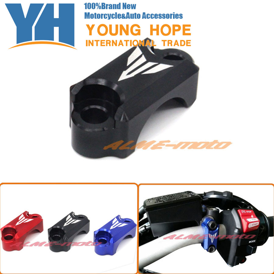 Motorcycle CNC Brake Master Cylinder Clamp Handlebar Clamp Cover For YAMAHA FZ6 FZ1 FZ8 XJ6 XJR1300 Black for yamaha fz6 fz1 fz8 xj6 xjr1300 motorcycle cnc aluminum brake master cylinder clamp handlebar clamp cover red