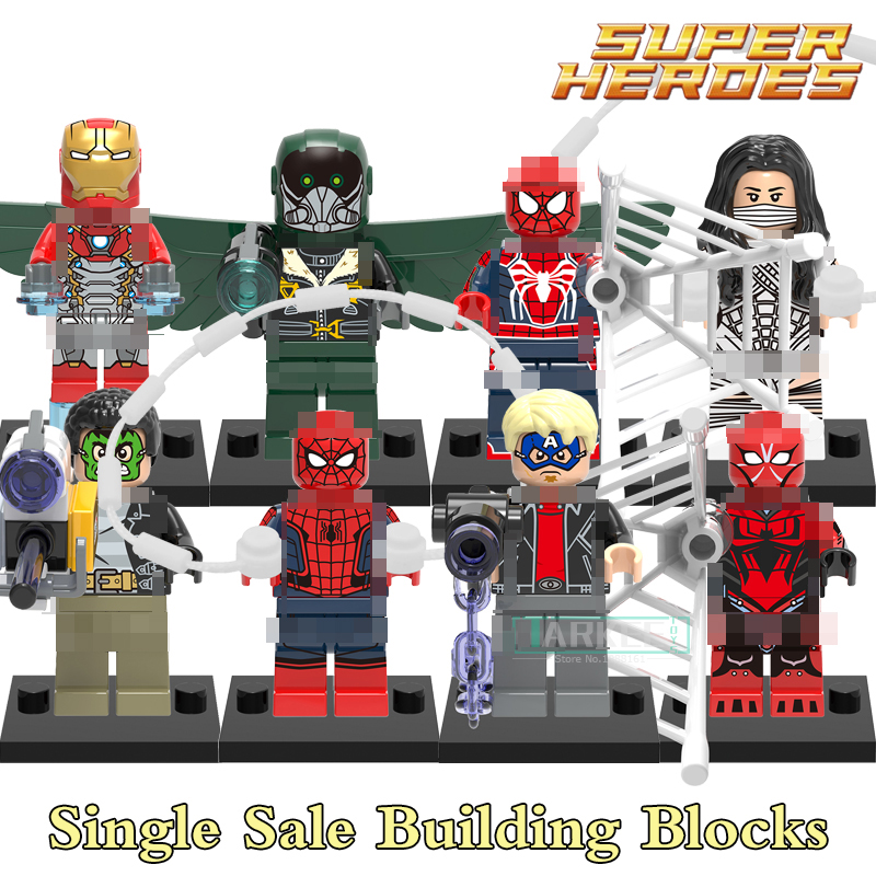1pc Building Blocks Bricks Silk Masked Robber Vulture Marvel Avengers Super Heroes Star Wars Figures Kids DIY Toys Hobbies X0168 building blocks the walking dead figures rick negan carl daryl star wars super heroes set assemble bricks kids diy toys hobbies