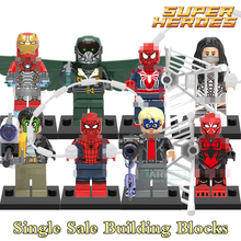 1pc Building Blocks Bricks Silk Masked Robber Vulture Marvel Avengers Super Heroes Star Wars Figures Kids DIY Toys Hobbies X0168(China)