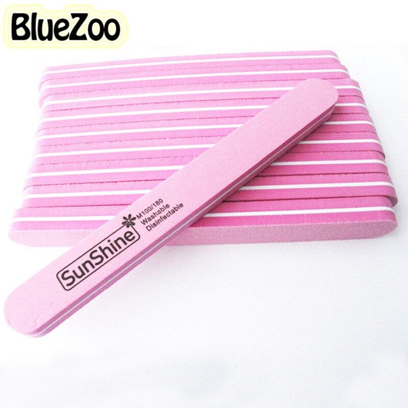 BlueZoo 10pcs pack File Nail Tool Round Head Double Side Diamond Fancy Nail File Buffer Sanding