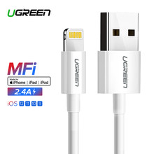 Ugreen USB Cable for iPhone Xs Max 2.4A MFi Lightning USB Fast Charging Data Cable for iPhone X 8 Mobile Phone USB Charger Cord(China)