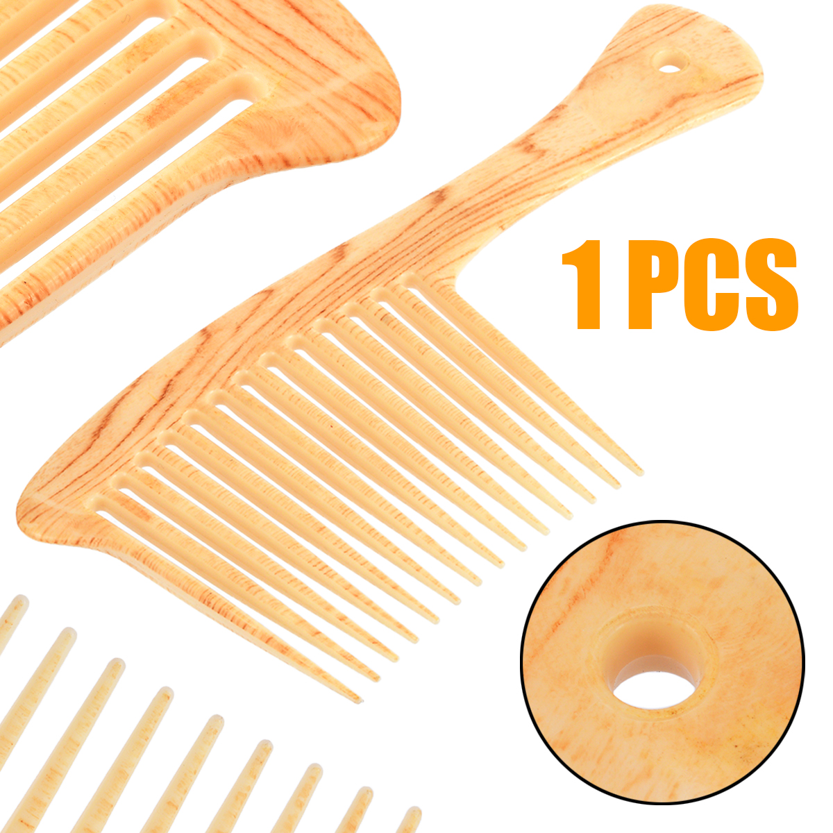 Mayitr 1pc Large Wide Tooth Comb Hair Detangling Hairdressing Rake Comb Suitable For Salon Home Use