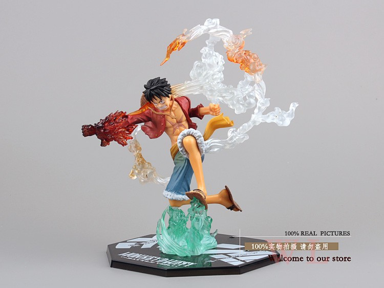 anime figures One Piece Monkey D Luffy Battle Ver. Figuarts Zero Boxed Action Figure Collection Model Toy Gift Free Shipping 7 free shipping 7 one piece anime monkey d luffy kabuki edition boxed 18cm pvc action figure collection model doll toy gift