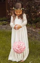 купить long sleve Flower Girl Dresses For Weddings 2017 Tank Real Party first communion dresses for Little Girls Kids/Children Dress по цене 5873.83 рублей