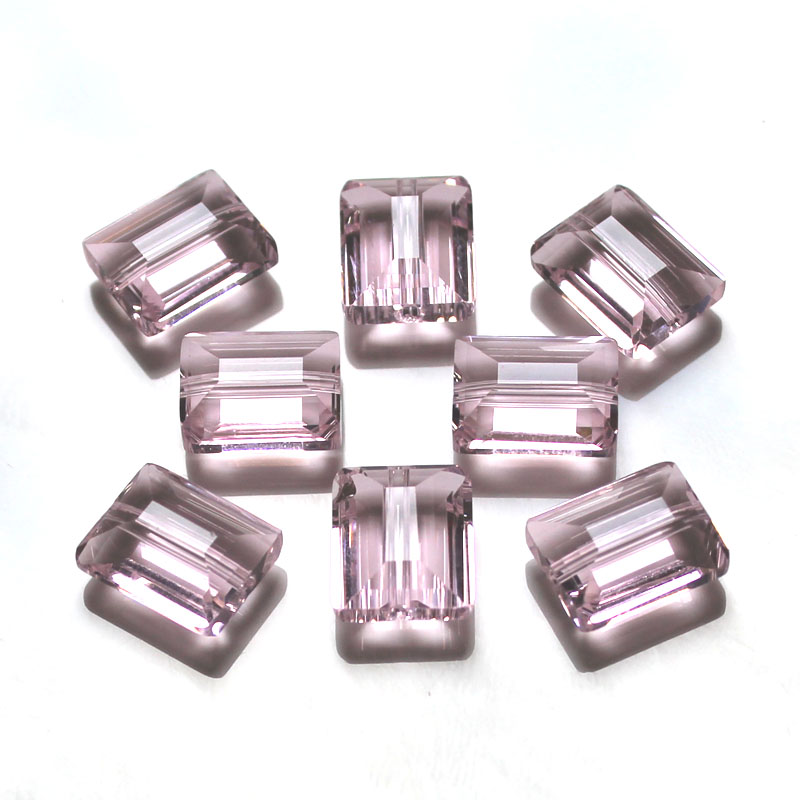 AAA 50pcs bag 12x10mm Glass Crystal Square Beads Shiny Crystal Clear Color Sewing Jewelry Beads in Beads from Jewelry Accessories