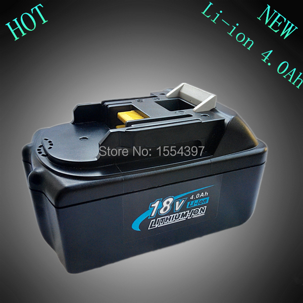 Rechargeable Lithium Ion 4000Ah Replacement Power Tool Battery for Makita 18V BL1830 LXT400 BL1840 Cordless Drill hot 2x 18v 4 0ah battery for makita bl1840 bl1830 bl1815 lxt lithium ion cordless