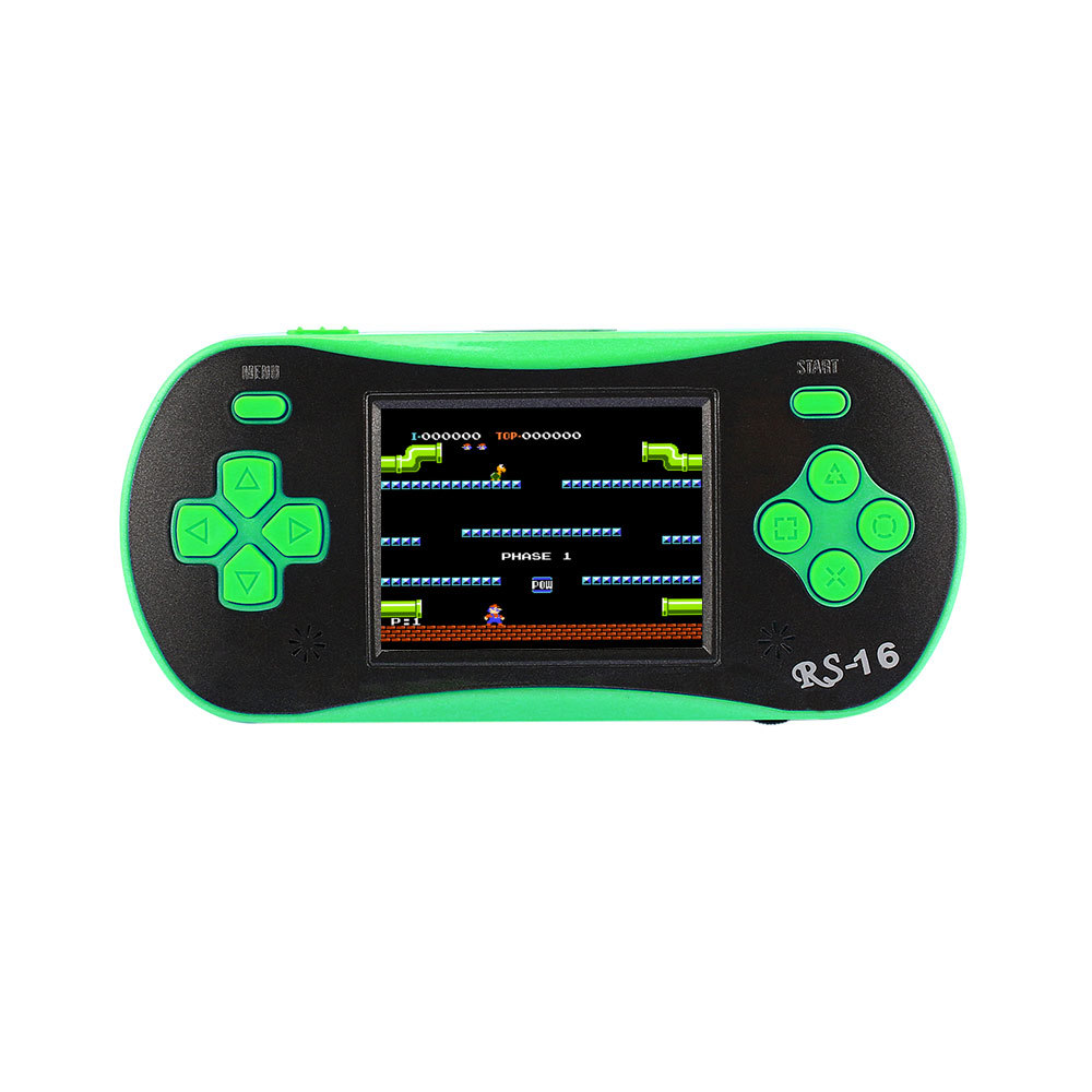 RS-16 Handheld Game Console Children's Puzzle Handheld Battle Color Screen Speed Selling Vintage Game image