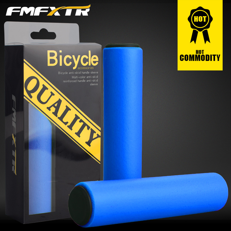 FMF 1Pair Pure Silicone Gel Shock-Proof Anti-Slip Soft Comfort Grips MTB Mountain Bike Road Bicycle Fixed Gear BMX with Bar Plug
