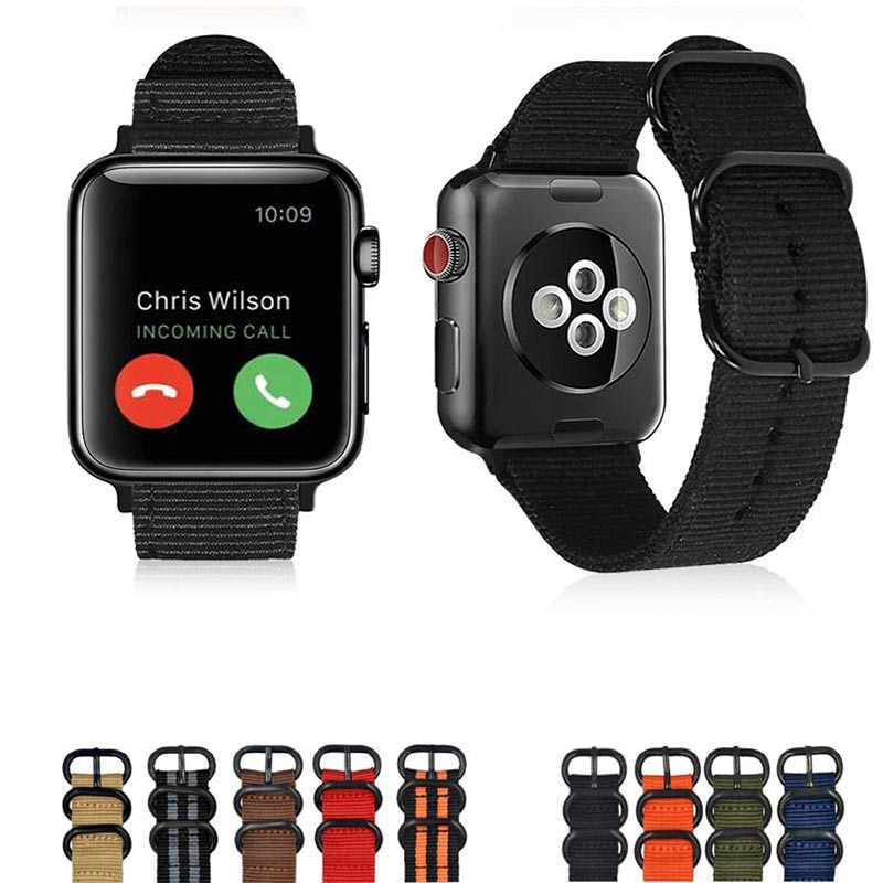 2018 black gray Hot sale Nylon strap for Apple Watch Band Series 3/2/1 sport leather bracelet 42mm 38mm strap for iwatch band стоимость