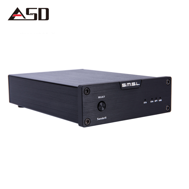 ASD SMSL Latest Sanskrit 6th USB DAC 32BIT/192Khz Coaxial SPDIF Optical Hifi Audio Amplifier Decoder New Version With Power new version smsl latest 6th sanskrit 32bit 192khz coaxial spdif optical usb dac hifi audio amplifier decoder with power adapter
