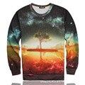 New 2015 men 3d hoodies harajuku galaxy tree/thrasher print sweatshirt moleton masculino tracksuit sudaderas hombre hoodie mujer