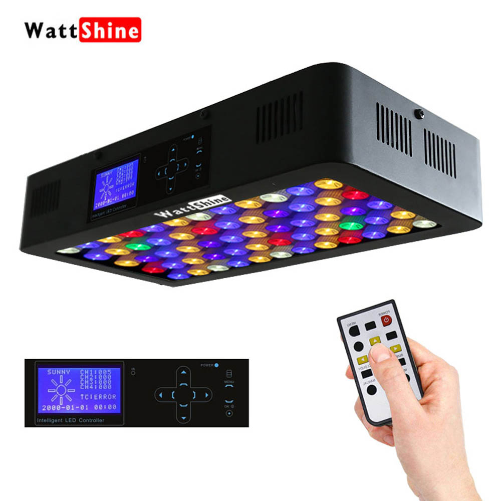 Remote or Touch control 180W LED Aquarium Light Pet aquatic plant lighting Timer Control Dimmer lamp Fish Tank Coral lamp