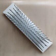 1 шт./мешок белые волосы Плюмаж с 100 шт. иглы для изготовления гребней уток машины