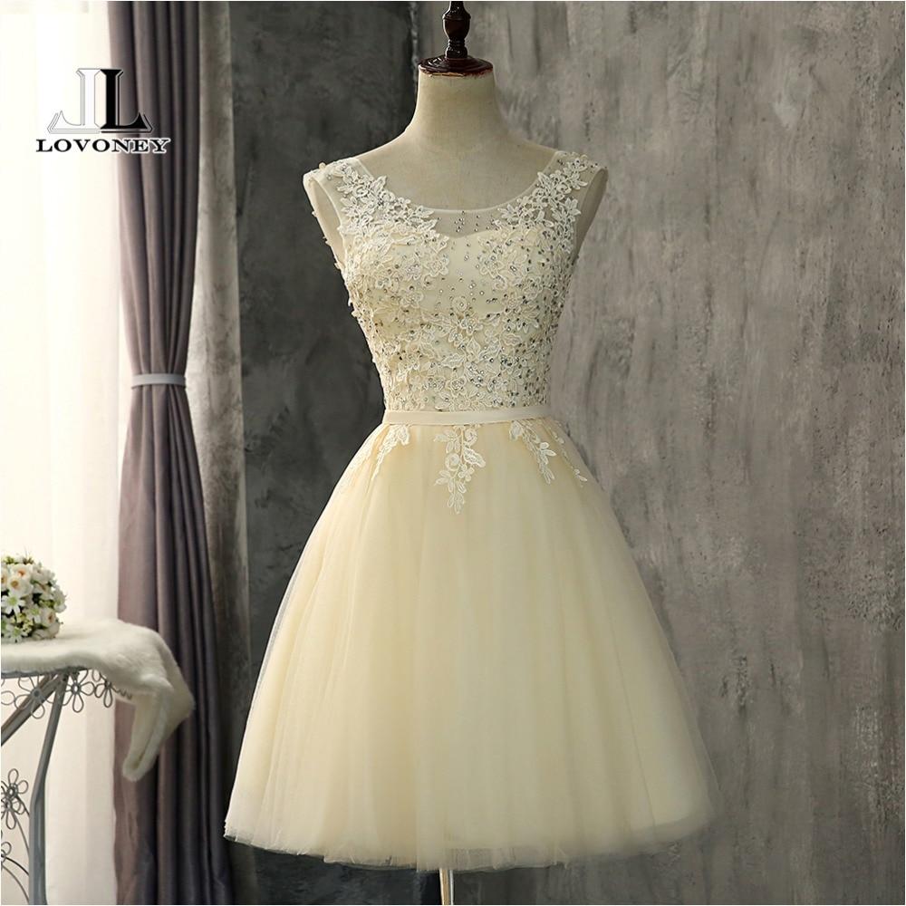 LOVONEY CH607 A Line Tulle Short   Prom     Dresses   2018 Formal Party   Dress   Women Occasion   Dresses     Prom   Gowns Vestido De Festa
