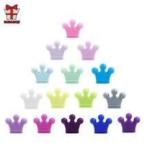 BOBO.BOX 5Pcs Crown Silicone Beads Baby Teething Colorful Nursing Teethers Food Grade Teether DIY Pacifier Chain